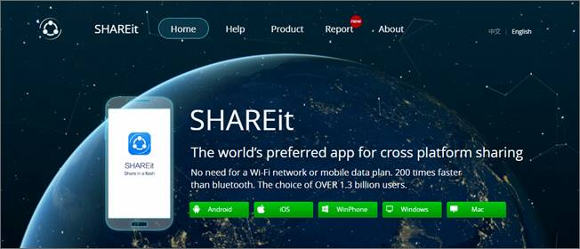 SHAREit v4.0 pour PC