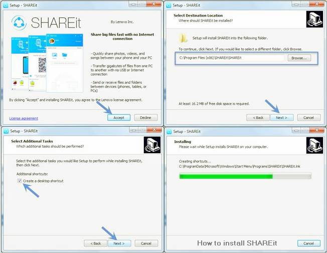 SHAREit pour Windows 10