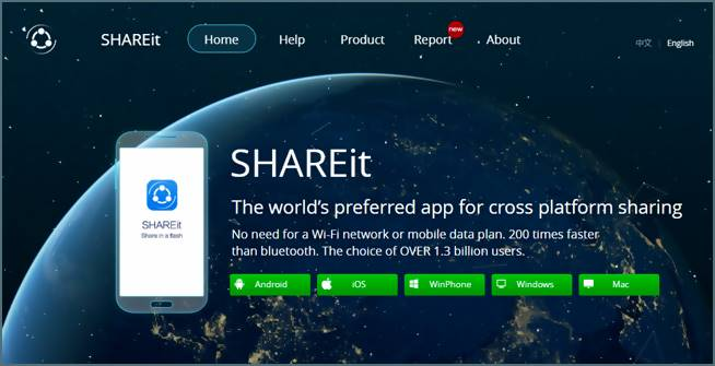 SHAREit pour Windows 7